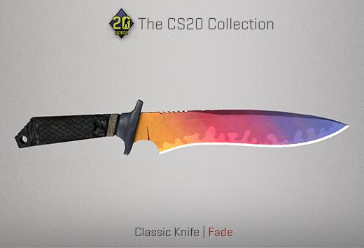 1.6 classic knife | fade csgo cs20