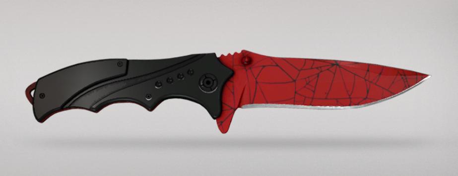 Shattered Web - Nomad Knife | Crimson Web