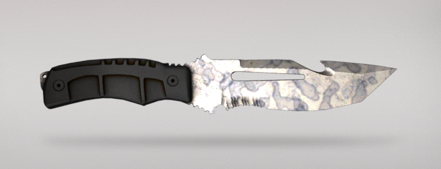 Shattered Web - Survival Knife | Stained