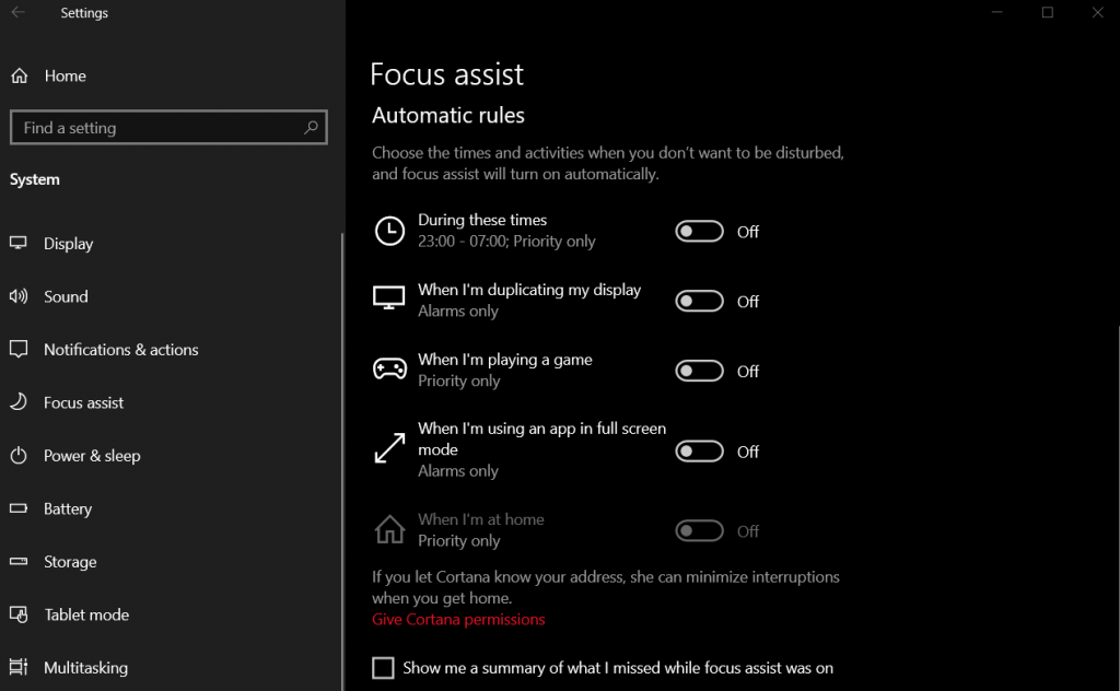 CSGO FPS Guide for 2020 - disable Focus Assist