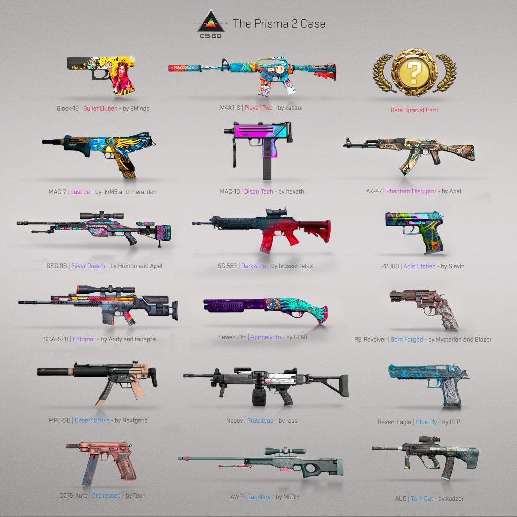 Prisma 2 Case 17 Weapons