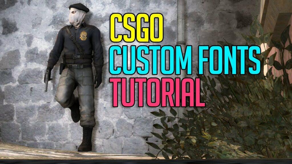 csgo custom font change